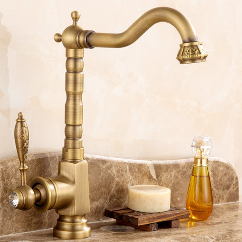 Antique Brass Basin Faucet