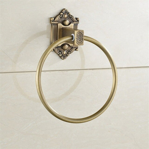 Antique Solid Brass Towel Rings