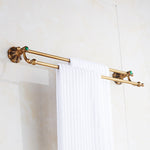 Double Rails Brass Wall Bath Towel Hanger