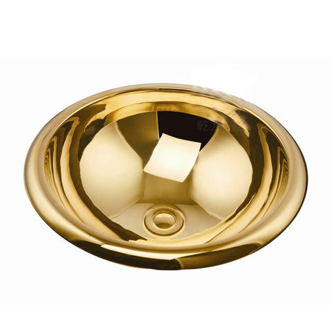 Luxury Antique Titanium Copper Gold Plating Sink