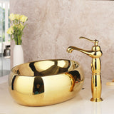 Golden Luxury Ceramic Wash Basin