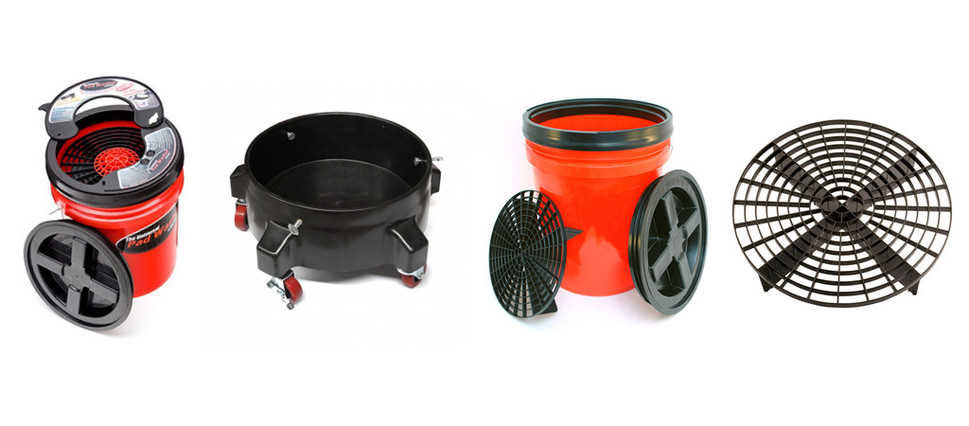 Grit Keepers, Buckets & Bucket Washing system