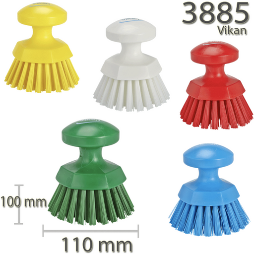 Vikan Round Professional Heavy Duty Stiff Scrubbing Brush Scrub Kitchen Garage - Auto Rae-Chem