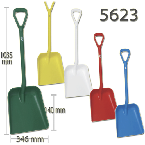 Vikan Shovel Large Lightweight Strong Durable Plastic Rust Proof Food Snow Muck