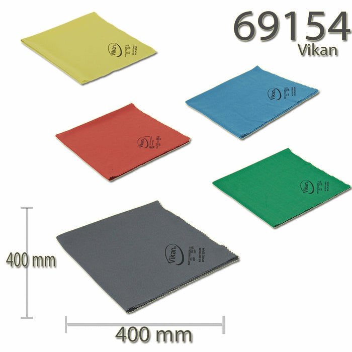 Vikan Microfibre Lustre Cloth Glass, Mirrors, Tiles, Stainless, - Auto Rae-Chem