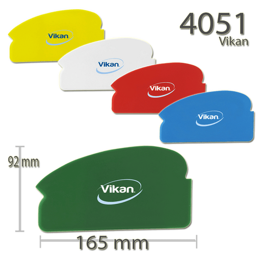 Vikan Flexible Plastic Scraper Spreading Multi Shape Car Hob 165mm Catering Food - Auto Rae-Chem