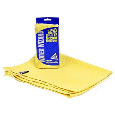 Water Wizard 56 x 76 cm Waffle Microfibre Drying Towel - Auto Rae-Chem