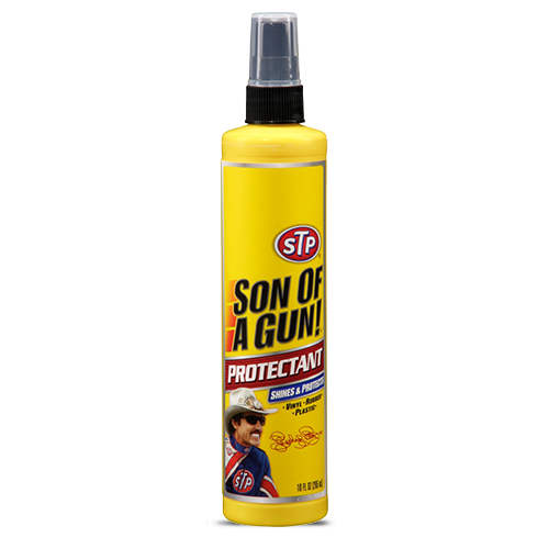 STP Son Of A Gun Car Dashboard Plastic Rubber Leather Shine Protectant 300ml