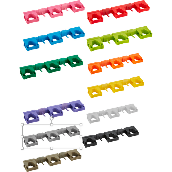 Vikan 1011n Hygienic Hi-Flex Wall Bracket System, 420 mm 12 colours