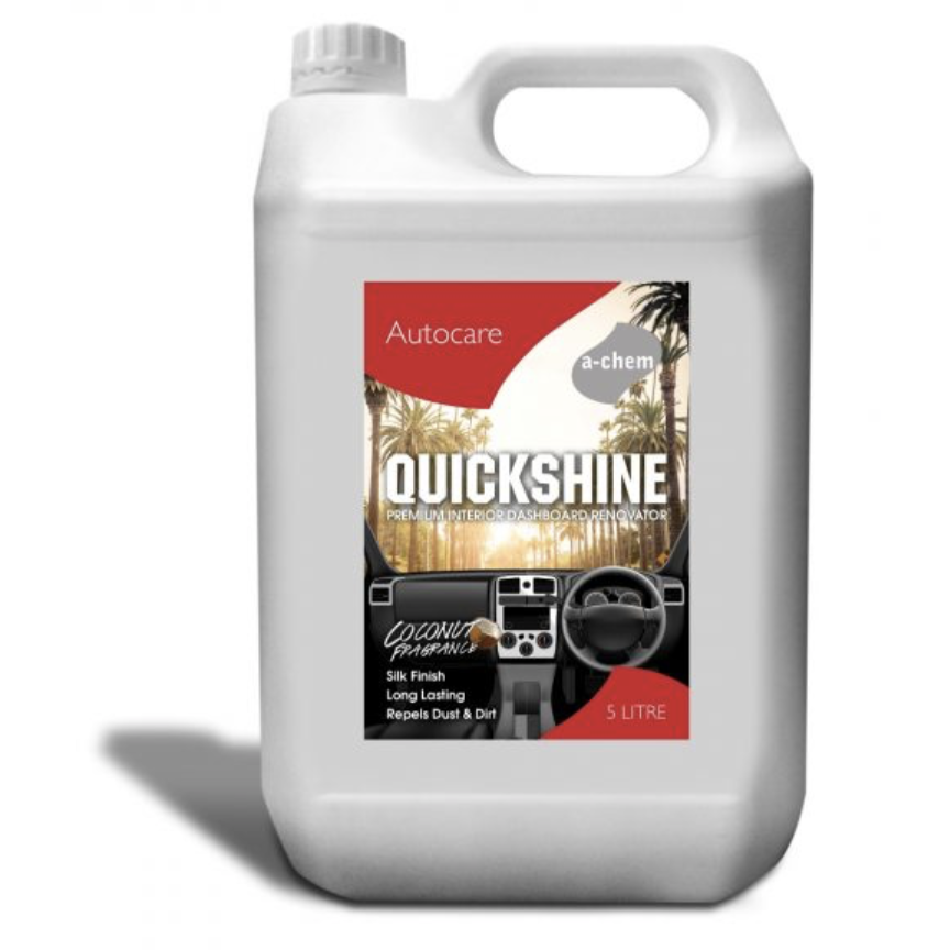 Quick Shine Dashboard Renovator 5L SILK FINISH - Auto Rae-Chem