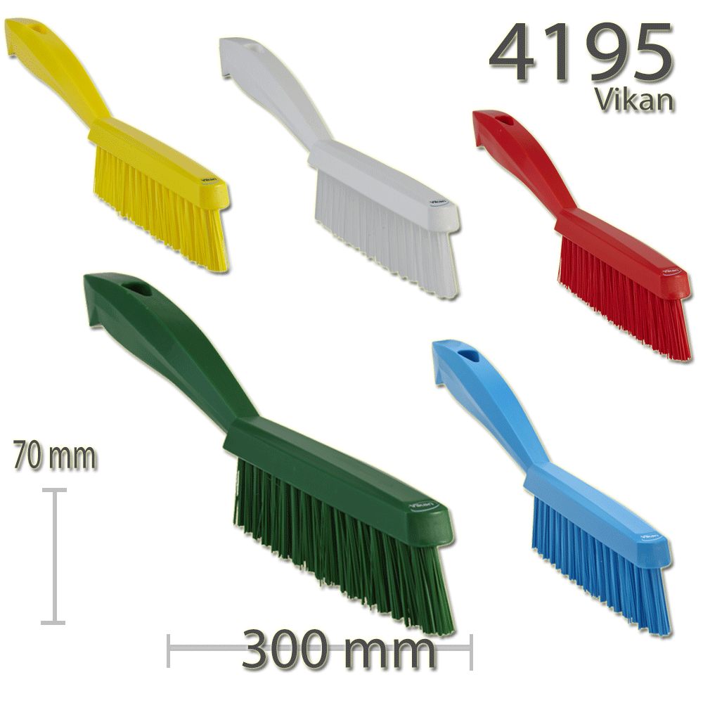 Vikan Professional Slim Fabric Upholstery Carpet Brush Stiff Bristle - Auto Rae-Chem