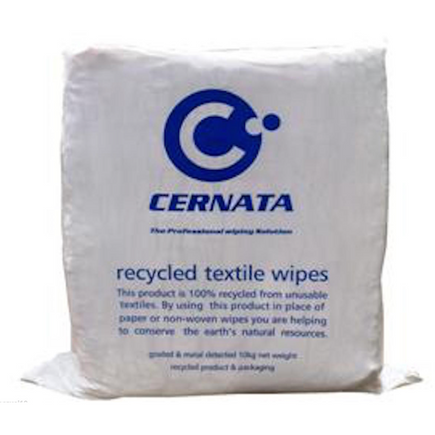 White Sheeting Rags - 100% Cotton Rich Low Linting 10kg