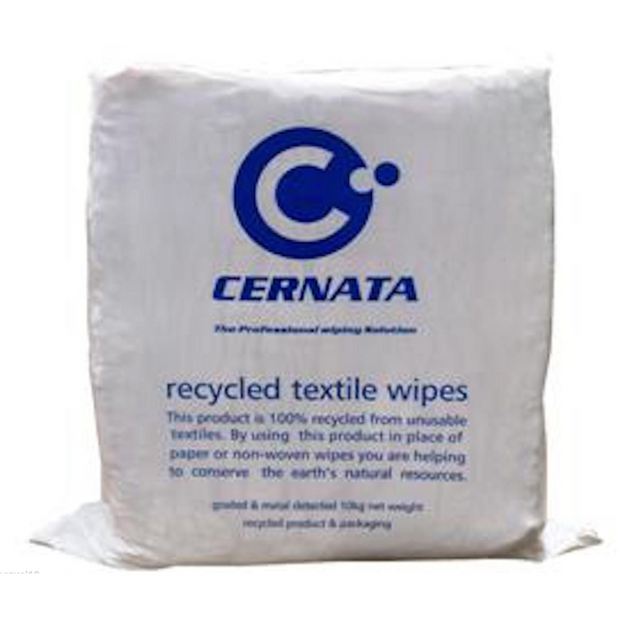 White Sheeting Rags - 100% Cotton Rich Low Linting 10kg - Auto Rae-Chem