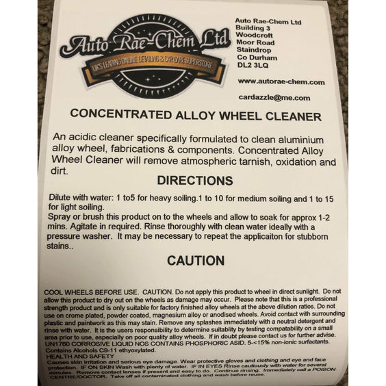 Concentrated Alloy Wheel Cleaner