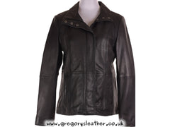 Black Leather Coat by Ashwood