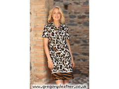 12 Leaf Zebra Border Safari Dress by Pomodoro