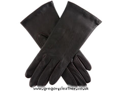 7 Mocca Emma Classic Hairsheep Leather Gloves by Dents