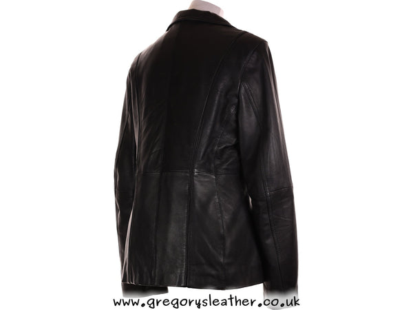 Black Ladies Button Jacket by Ashwood