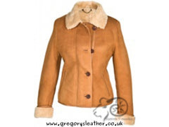14/36 Tan Ladies Sheepskin Coat by Eastern Counties