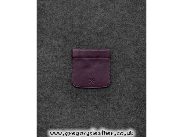 Purple Newton Leather Snap Top Coin Pouch by Tumble and Hide
