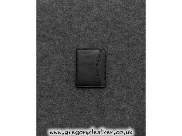 Black Tumble And Hide Newton Leather Oyster Card Holder by Yoshi