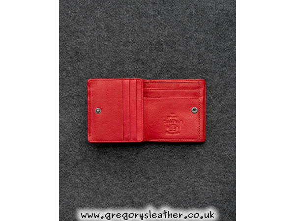 Red Newton Leather Small Wallet Purse by Tumble and Hide