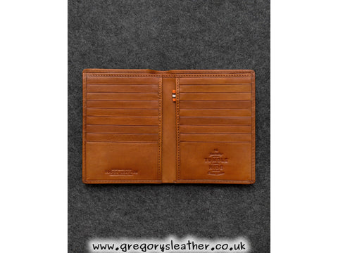 Tan Tudor Leather Traditional Jacket Wallet by Tumble and Hide