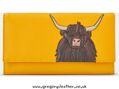 Highland Cow Flap Over Purse by Yoshi