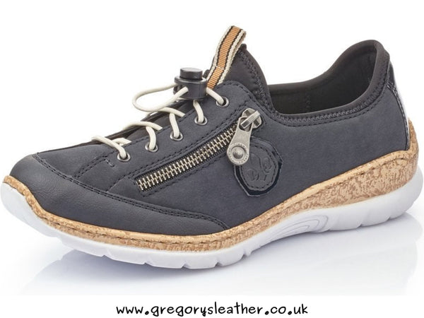 Denim Trainer Style Shoe by Rieker
