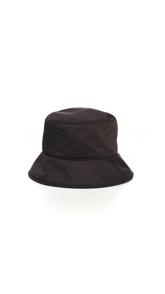 Nylon Logo Bucket Hat - Black