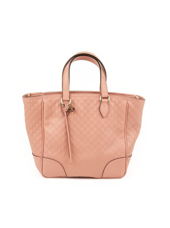 Leather GG Guccissima Tote - Pink