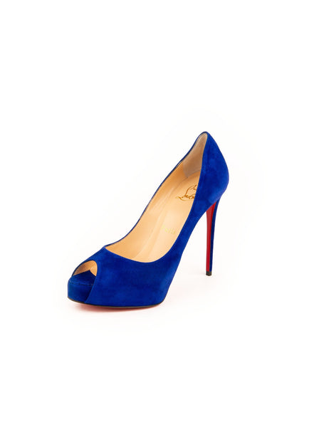 New Very Prive 120 Peep Toe Pumps - Blue