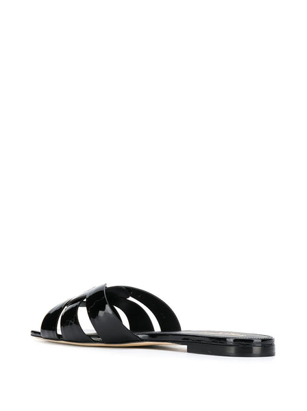 Tribute Patent Leather Flat Sandals