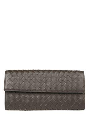 Continental Nappa Leather Intrecciato Detail Wallet