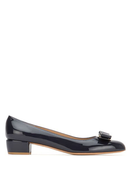 Vara Patent Leather Pump - Midnight Blue