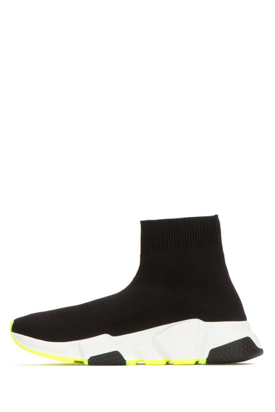 Speed Stretch Fabric Sneaker - Black / White