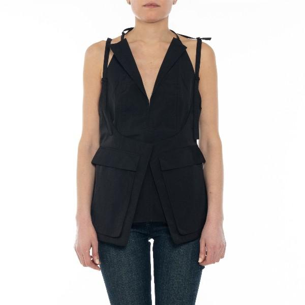 Backless Removable Jacket Top