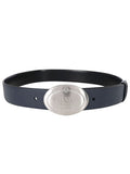 Reversible Leather Oval Buckle Belt