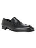 Calfskin Saddle Strap Loafers