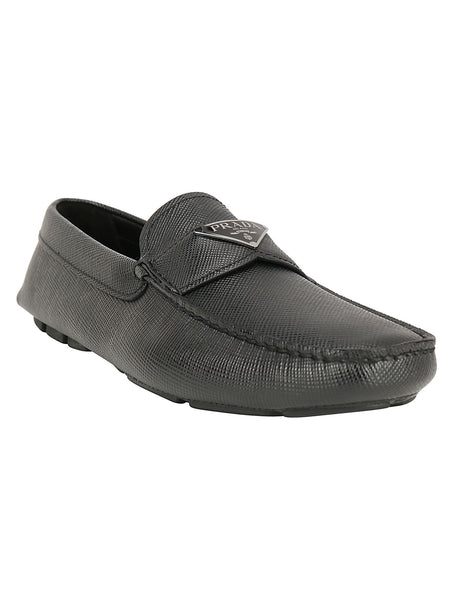 Saffiano Cuir Leather Loafers
