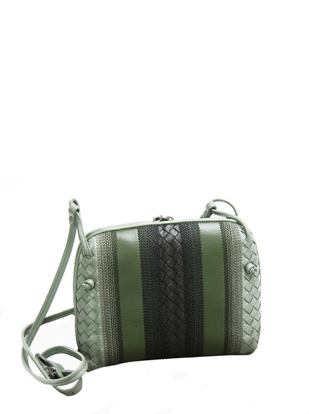 Nodini Woven Lambskin Intrecciato Shoulder Bag