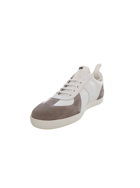 Hardior Leather and Suede Sneakers - White / Beige