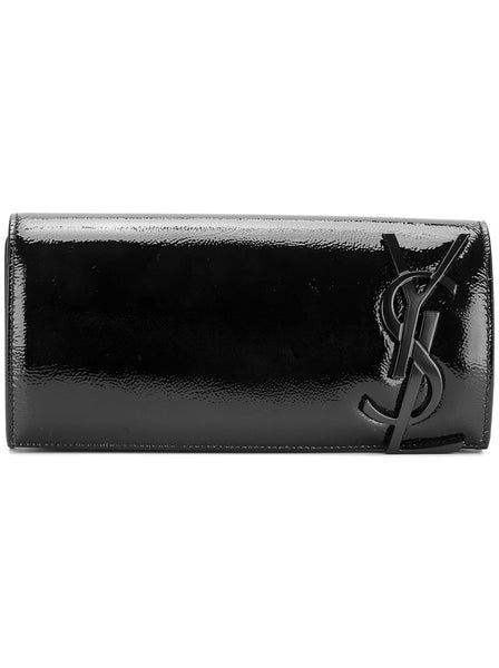 Patent Leather Smoking Clutch - Black
