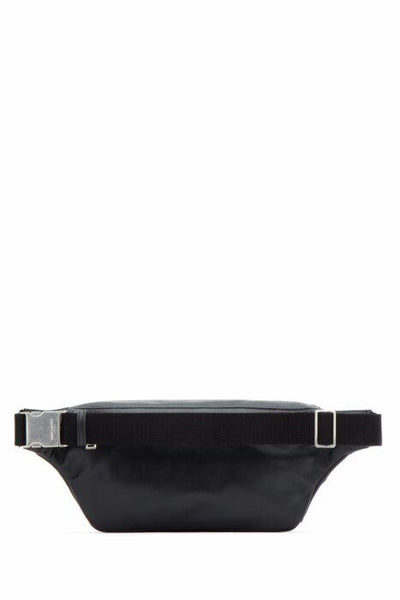 Classic Smooth Leather Logo Print Belt Bag