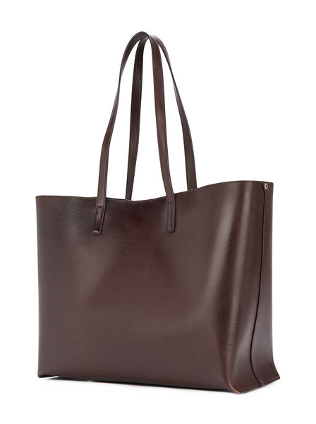 Perforated Vintage Leather Shopping Bag
