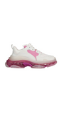Triple S Clear Sole Sneakers - White / Pink
