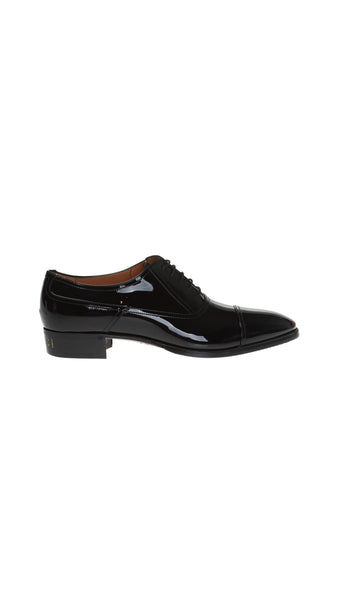 Patent Leather Oxfords - Black