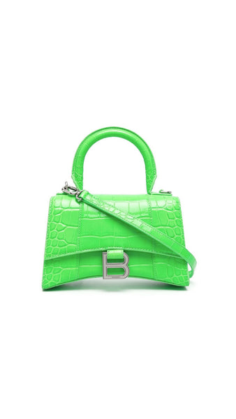 Hourglass XS Top Hanfdle Bag - Fluo Green