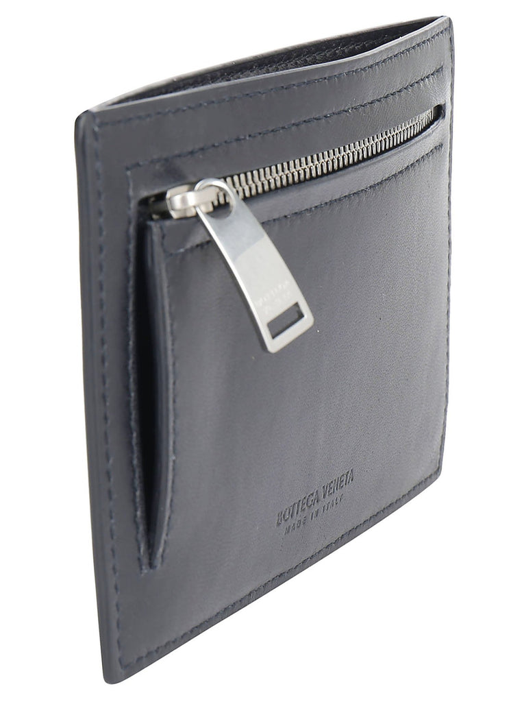 L.I Lambskin Gusseted Card Case Black