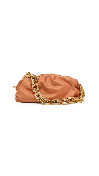 Bottega Veneta The Chain Pouch Bag  - Clay Gold